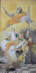 "The artist Bozhidar Vasilev,  Reproduction ""The Vision of saint Anna Giovanni Battista Tiepolo -1759"" , Oil, 64.5 x 32cm. Price EURO 1 450"