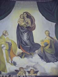"The artist Bozhidar Vasilev,  Reproduction ""The Madonna from San Sisto The Sixtine Madonna Rafael, 1512 -1513"", oil 68cm / 54cm. Price EURO 1 500"