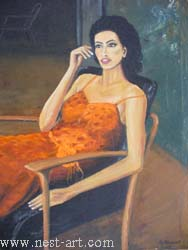 "The artist Bozhidar Vasilev,  ""Reflection"", Oil, 66,7 x 56 cm. Price EURO 350"