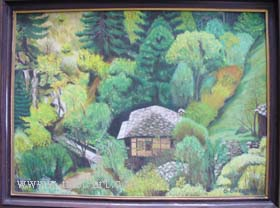 "The artist Bozhidar Vasilev,  ""House in forest"", Oil, 60 x 43.5 cm., Price EURO 120"