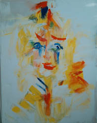 Carnaval, 150 x 60 cm., Acryl on canvas, Price 650EUR