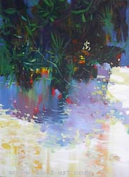 The artist Vladin Vladev,  Reflections, 2007, oil on canvas, 57x77 cm., Price: EURO 1 640